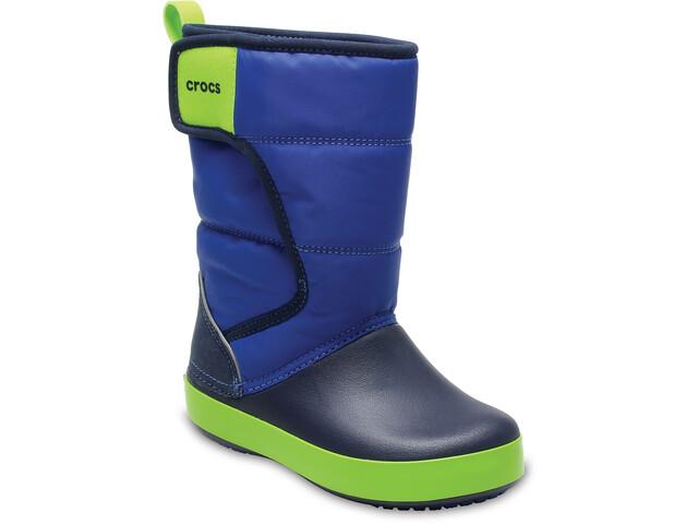 Crocs LodgePoint Boots de neige Enfant, blue jean/navy